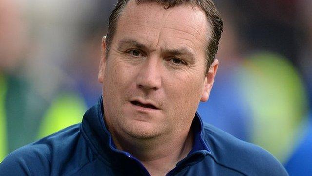 Shrewsbury Town manager Micky Mellon