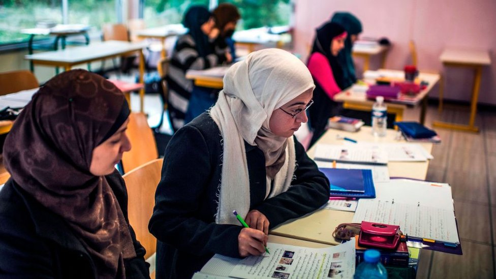 Pupils study interpretations of the Koran's twelfth chapter, 16 October 2012