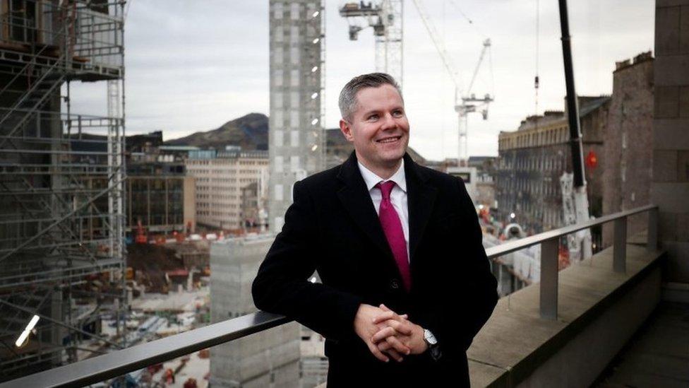Finance Secretary Derek Mackay at the Edinburgh city centre St James Centre development