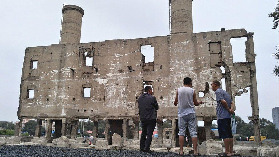 Restos del complejo donde operaba de forma encubierta la Unidad 731.