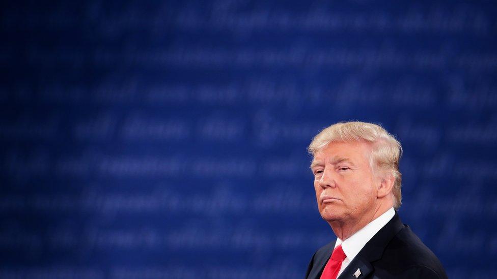 Donald Trump at the 9 October 2016 presidential debate
