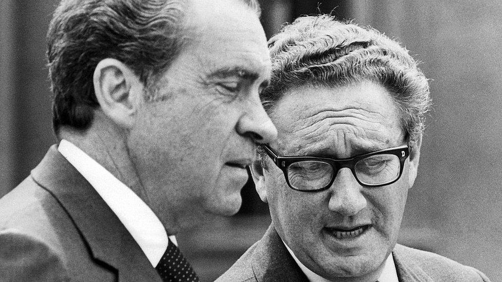 Richard Nixon and Henry Kissinger in 1974