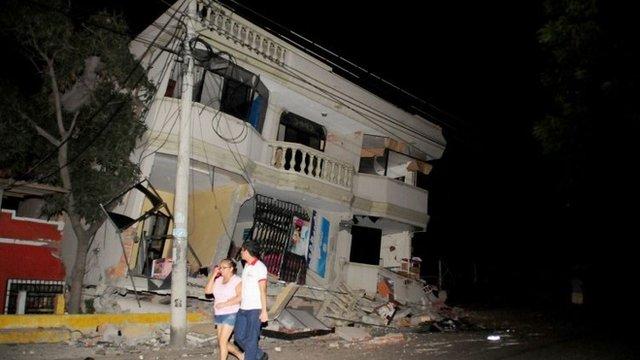Ecuador earthquake damage in Guayaquil
