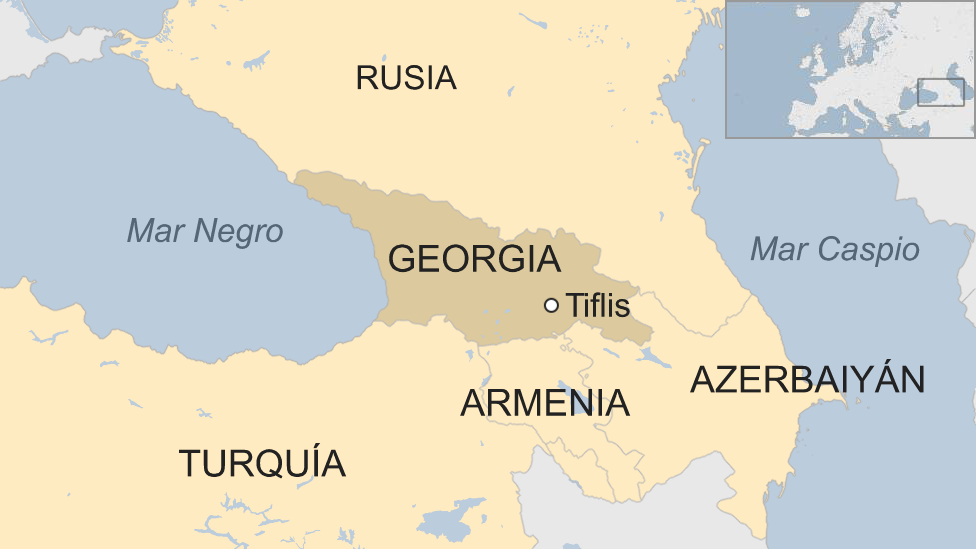 Mapa Georgia