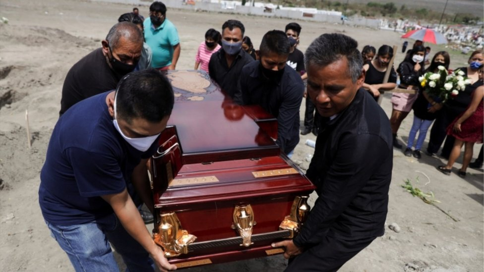 Funeral de victima de covid