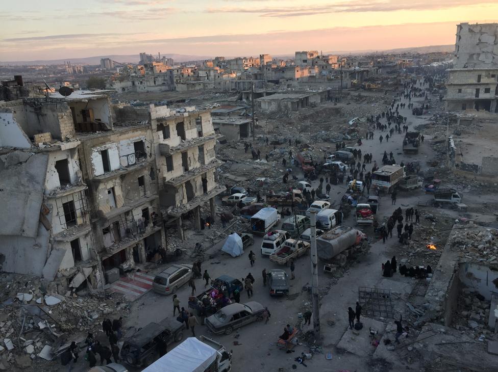 Evakuacija istočnog Alepa u decembru 2016.