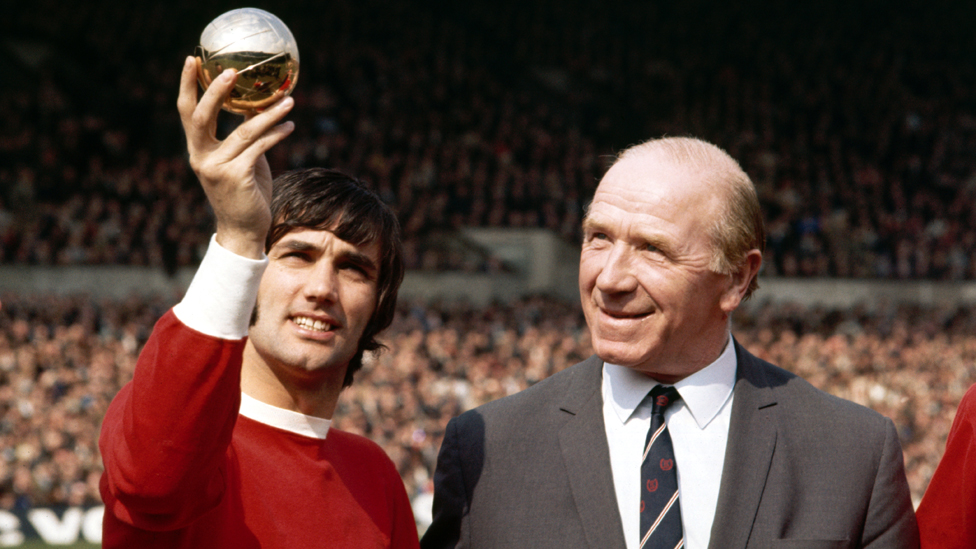 George Best and Sir Matt Busby