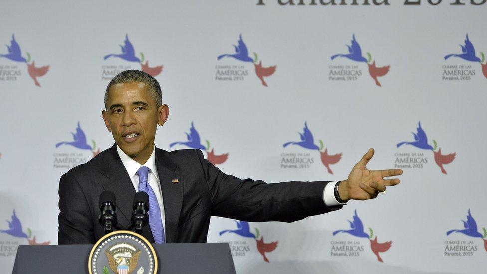 Barack Obama durante la Cumbre de las Américas en 2015.