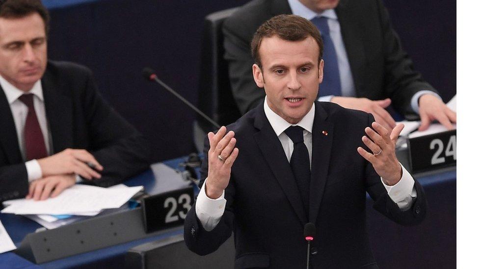Predsednik Makron u Evropskom parlamentu, Strazbur, 17. april 2018