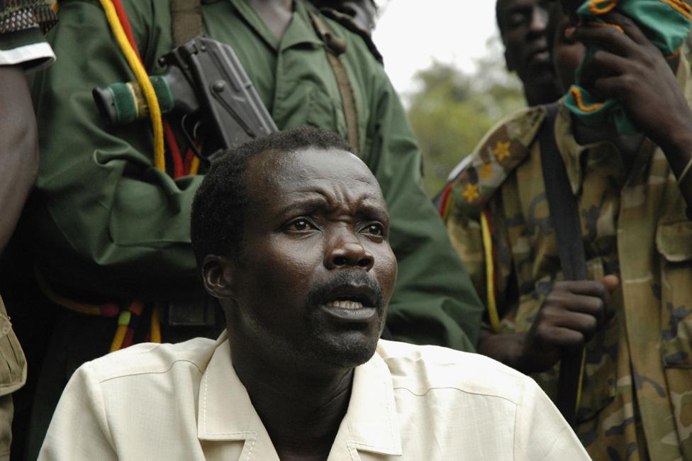 Joseph Kony at peace talks in 2006