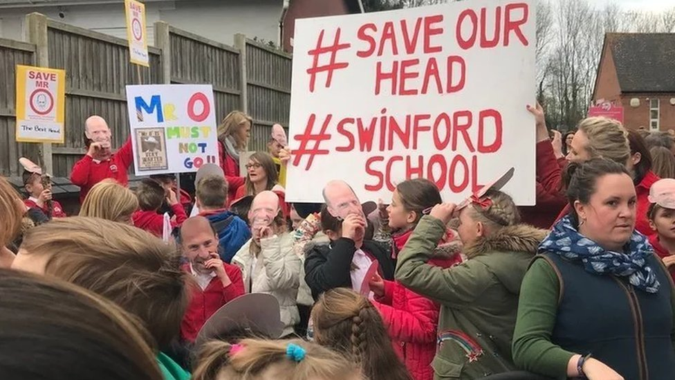 Swinford school campaigners celebrate saving head