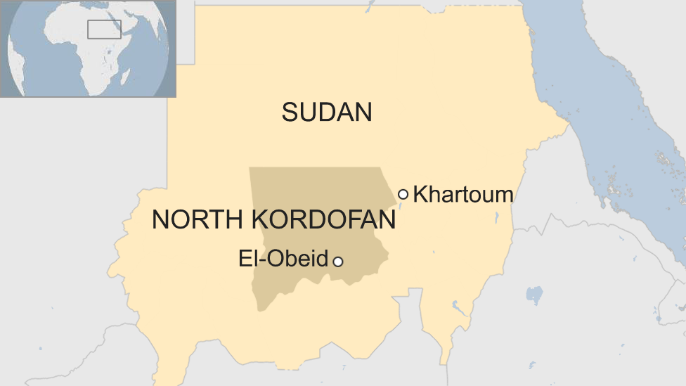 map of Sudan showing El-Obeid