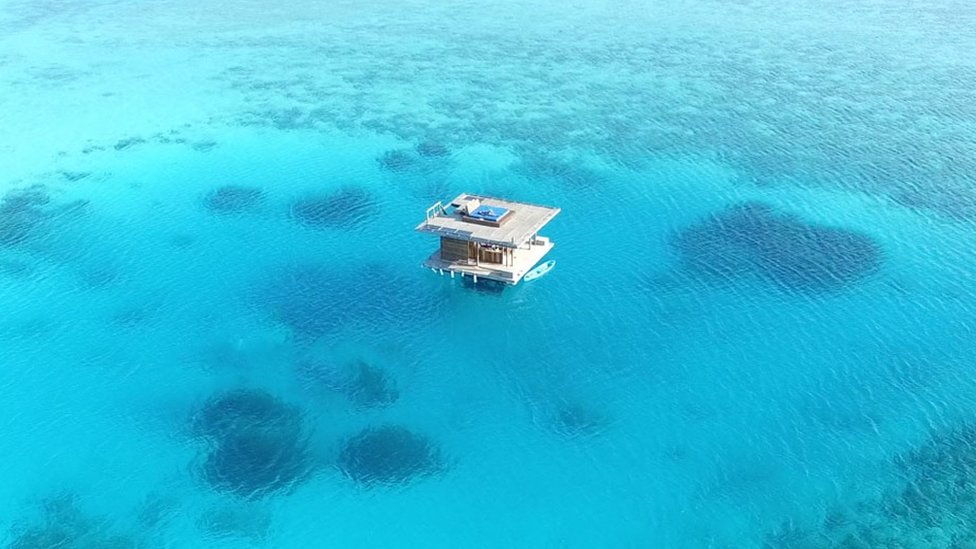 Imagen aérea del Manta Resort