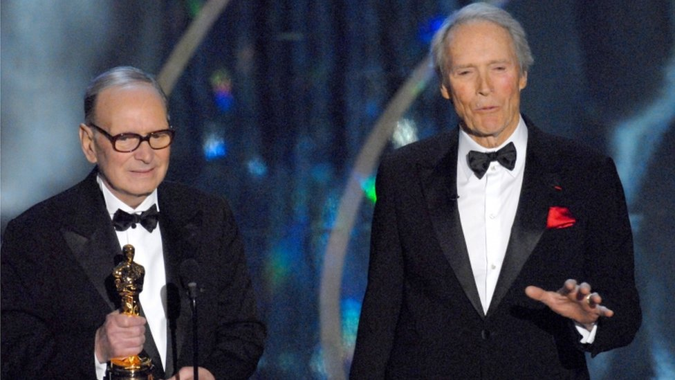 Ennio Morricone receives Honorary Academy Award from presenter Clint Eastwood