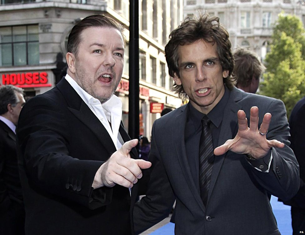 Ricky Gervais and Ben Stiller