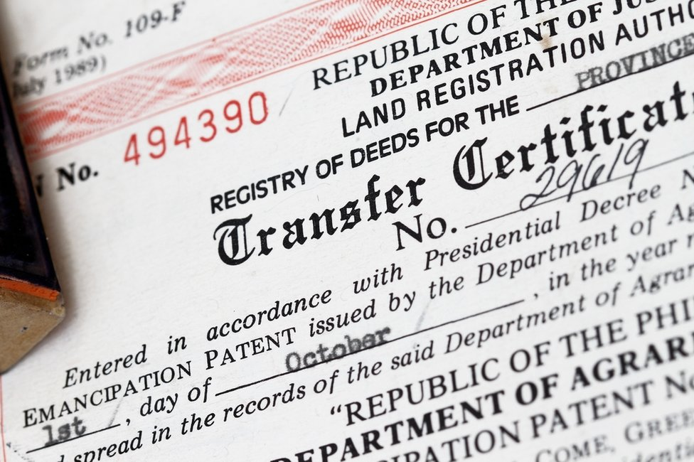 Land registration certificate