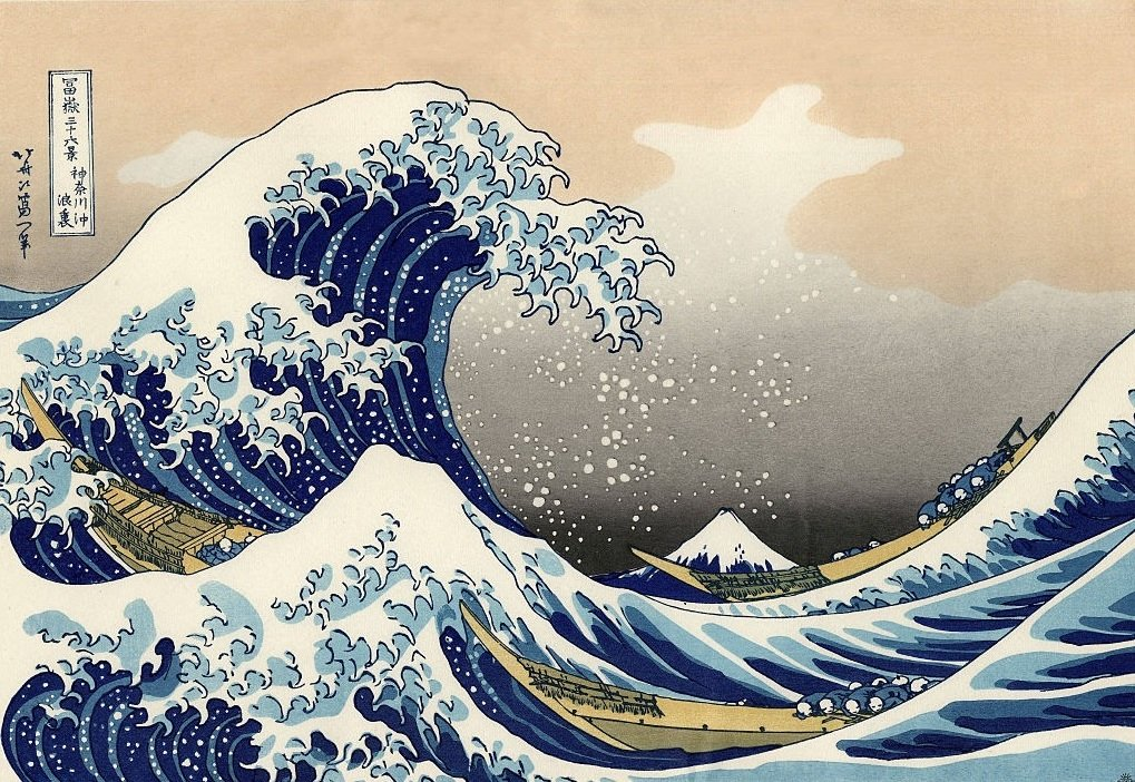 《神奈川衝浪裏》是日本最具標誌性的浮世繪版畫。