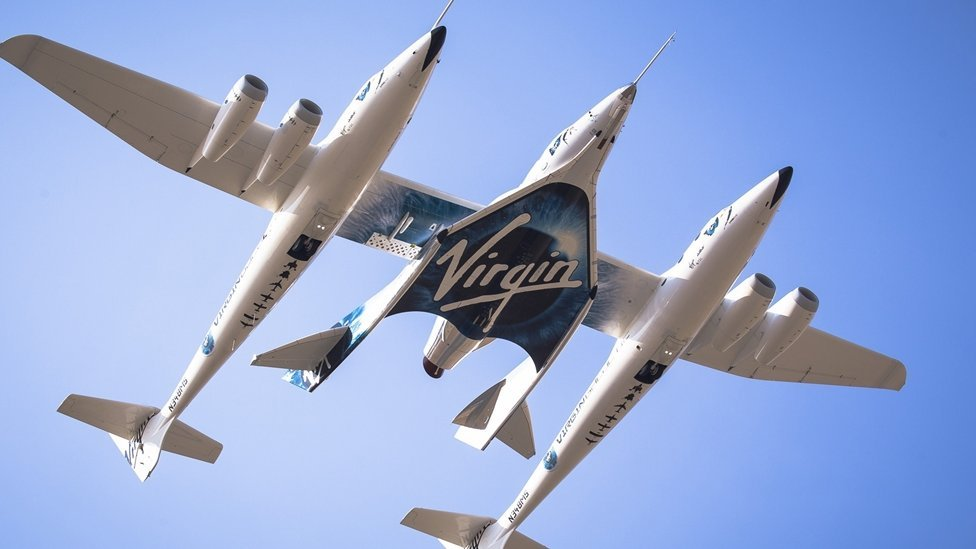 Branson's Virgin Galactic reaches edge of space