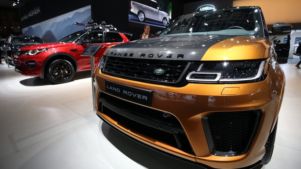 Range Rover - Land Rover is being displayed for the press members ahead of 97th Brussels Motor Show at Brussels Expo Center in Brussels, Belgium on January 19, 2019.