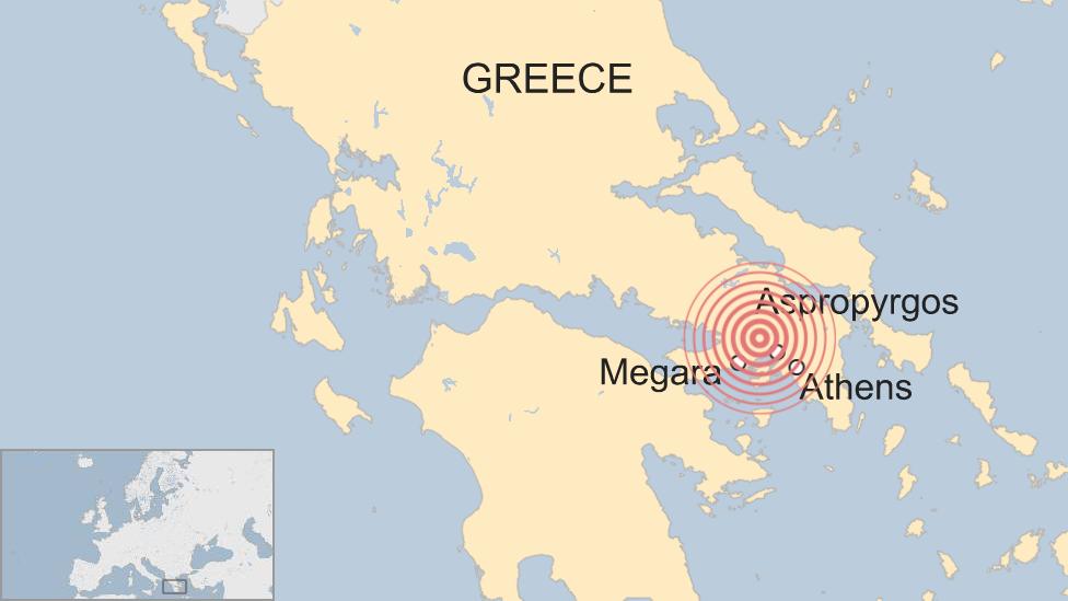 Peta gempa Yunani