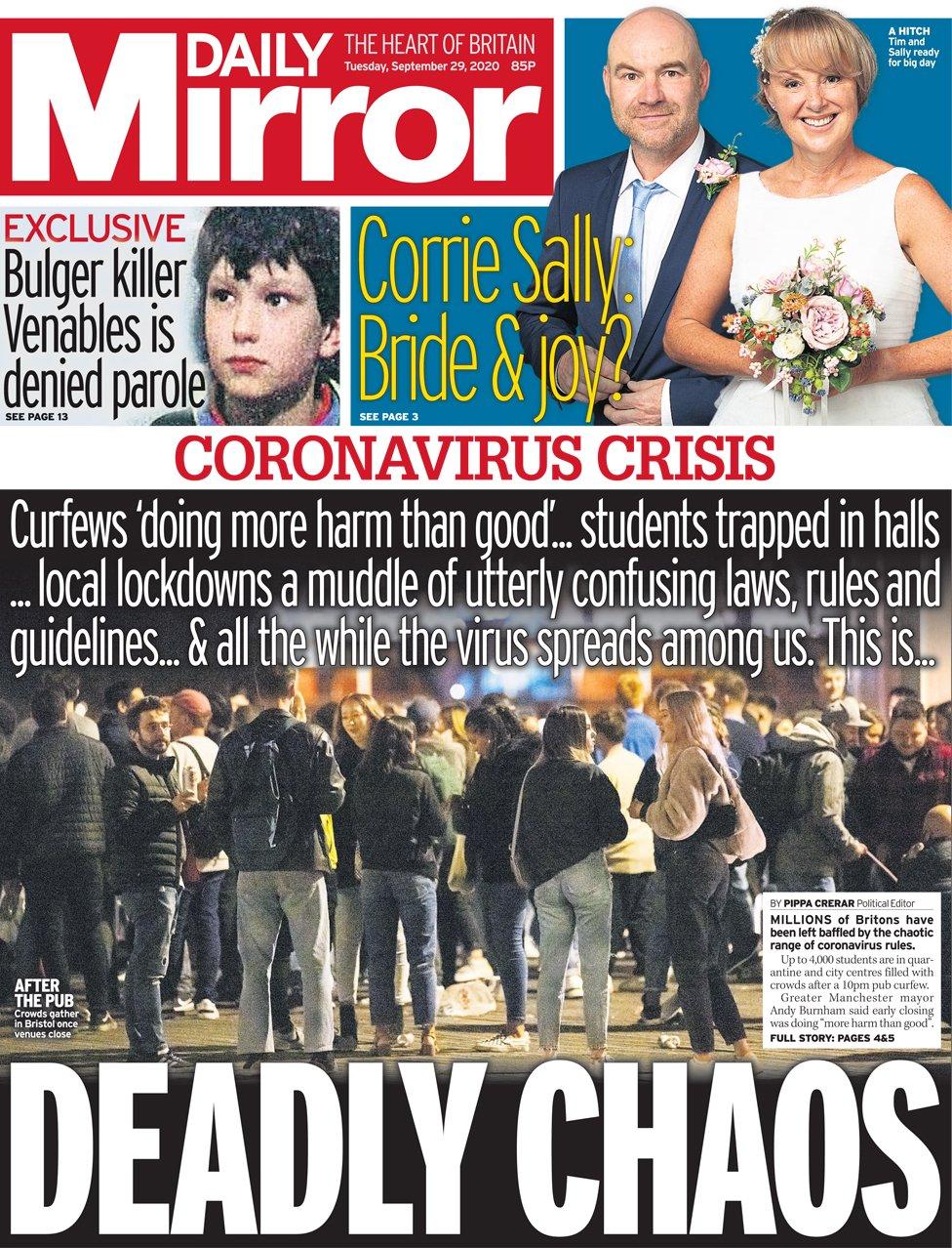 Daily Mirror 29 Sep