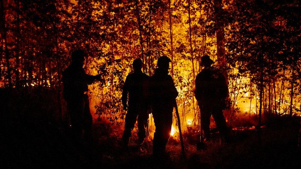 Incendio en Yakutia, Sakha, Rusia