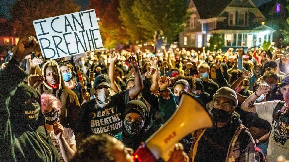 Una protesta por el caso Floyd