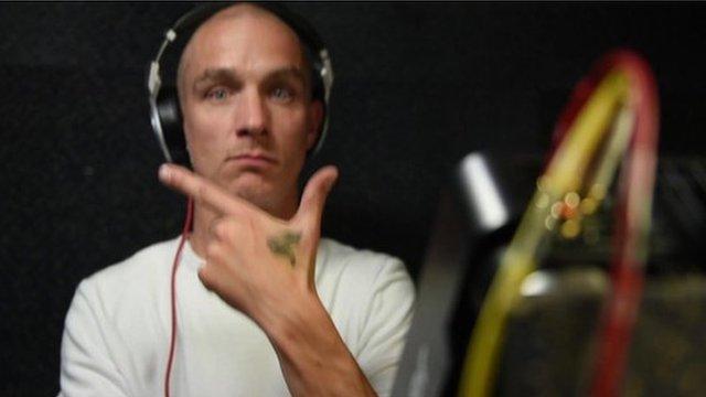 DJ at a pirate radio station