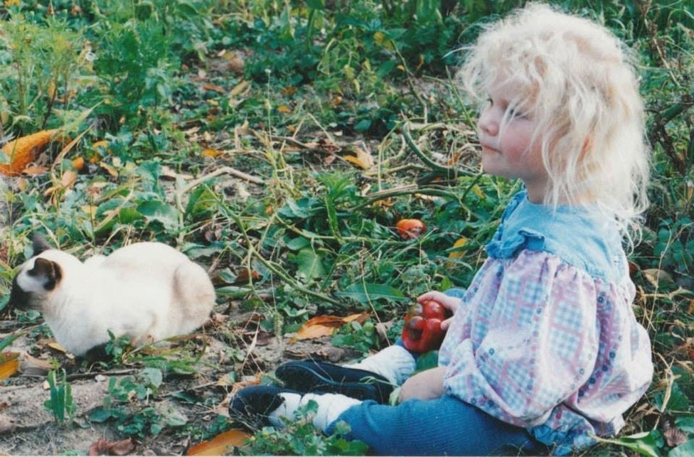 Tyler Hurwitz as a child