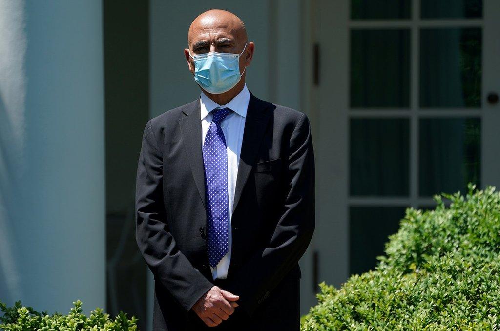 美国新冠肺炎疫苗负责人蒙塞夫·斯劳伊称,'在隧道尽头已有曙光'。(photo:EBCTW)