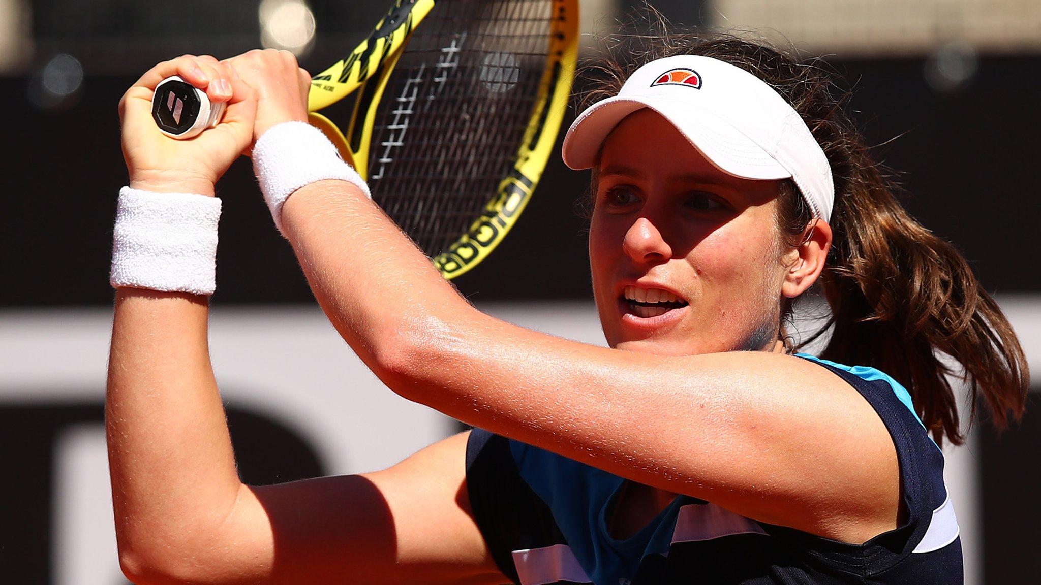 Italian Open: Johanna Konta beats Sloane Stephens & faces Venus Williams in third round