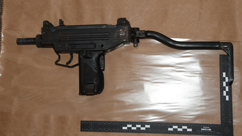 Semi-automatic gun with shoulder brace