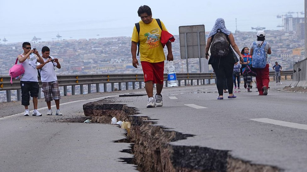 A crack in Chile after the 2014 Iquique earthquake