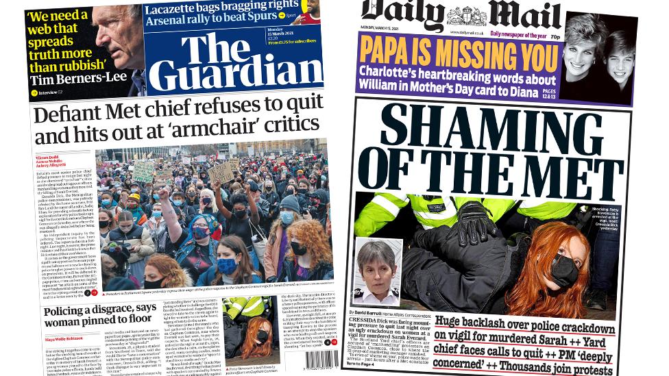 Guardian ve Daily Mail gazeteleri