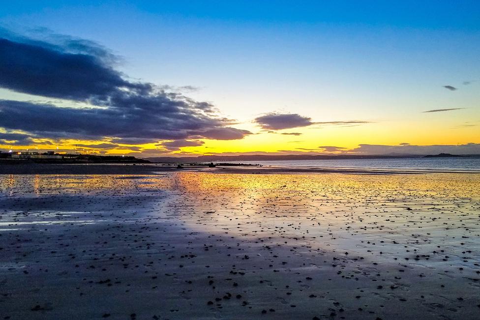Sunset over a beach