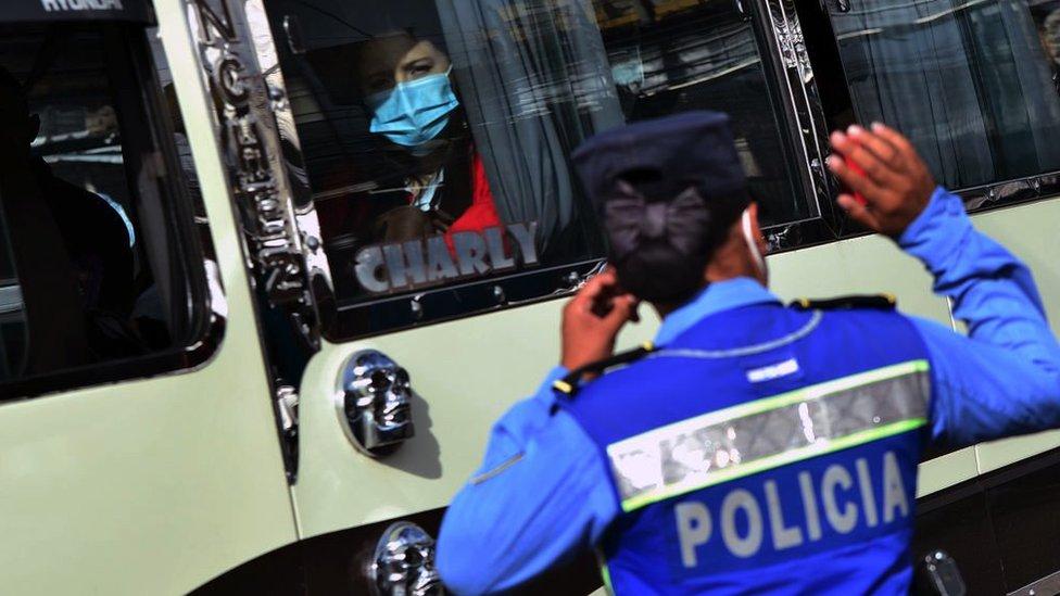 Policia en Honduras