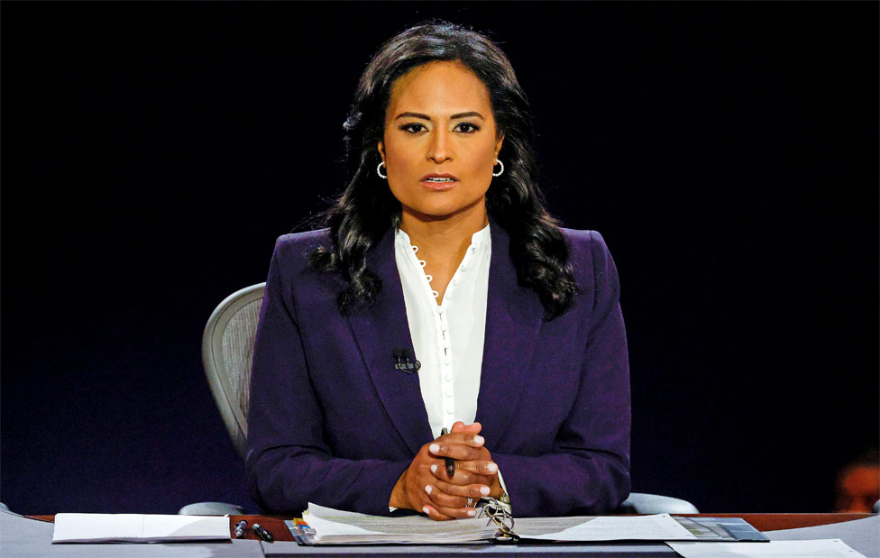 Debate moderator Kristen Welker