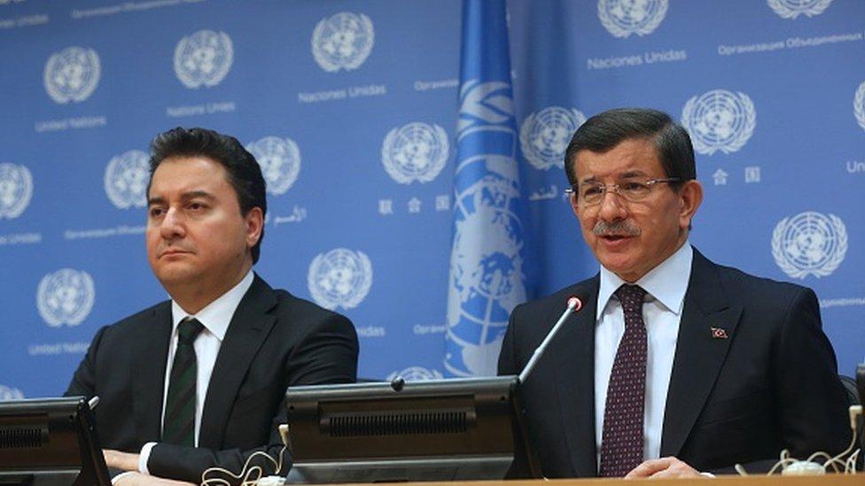 Ekonomiden sorumlu eski Başbakan Yardımcısı Ali Babacan ve eski Başbakan Ahmet Davutoğlu