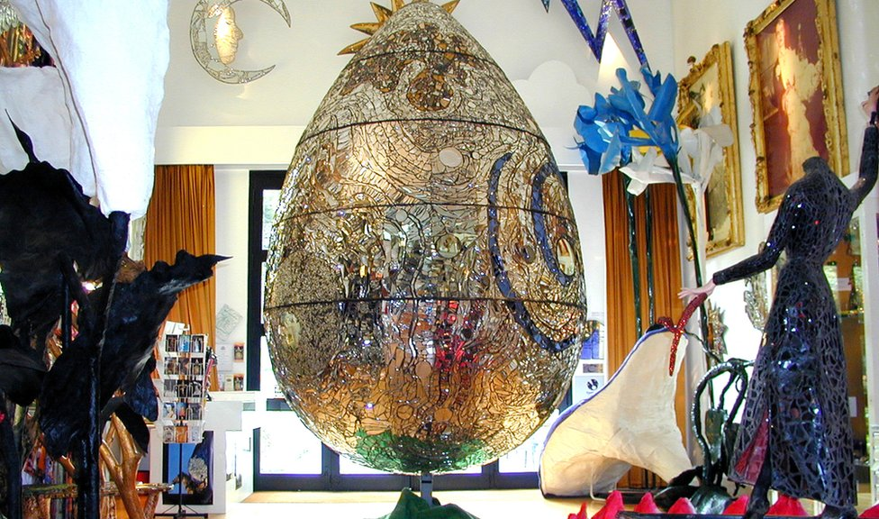 Cosmic Egg at the Andrew Logan Museum