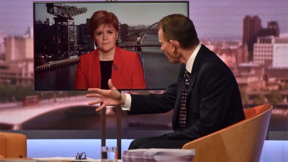 Nicola Sturgeon with Andrew Marr