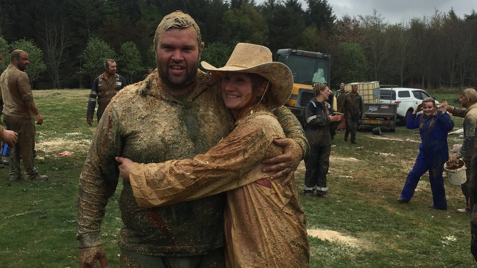 Ross Brebner and Caz Ross after The Blackening