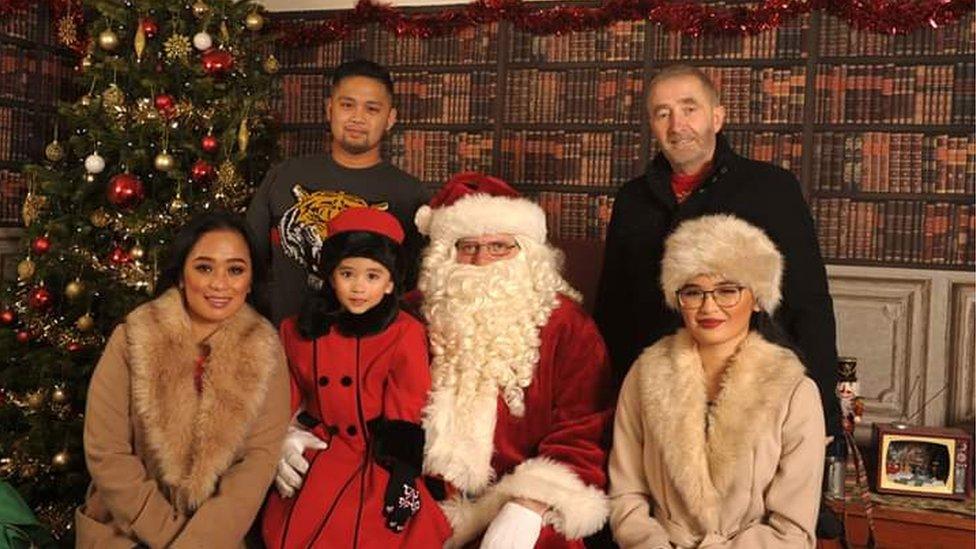Crooke family photo with Santa