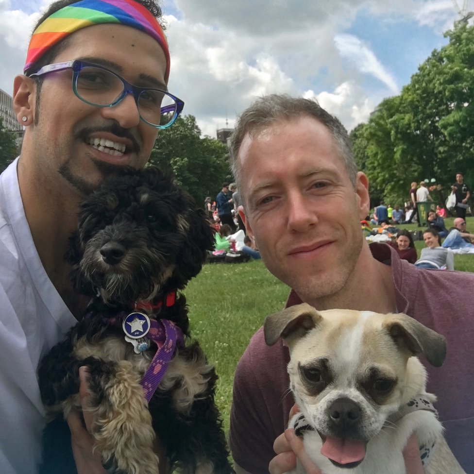 Shamal Wairach and his partner at Pride this year