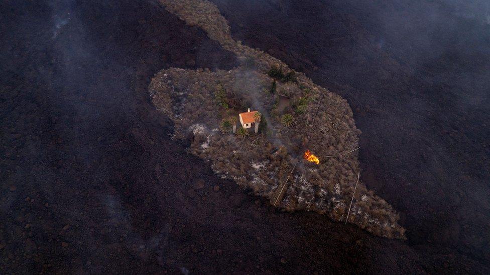 Volcán en La Palma