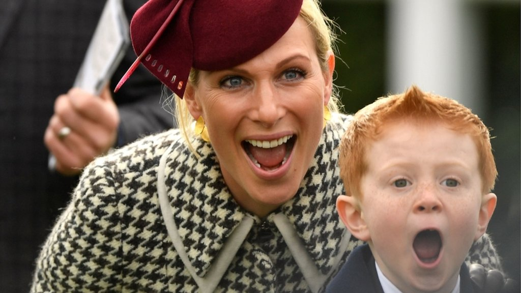 Zara Tindall (left) and Archie McCoy, son of AP McCoy
