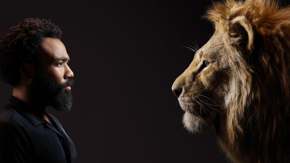 Donald Glover and Simba