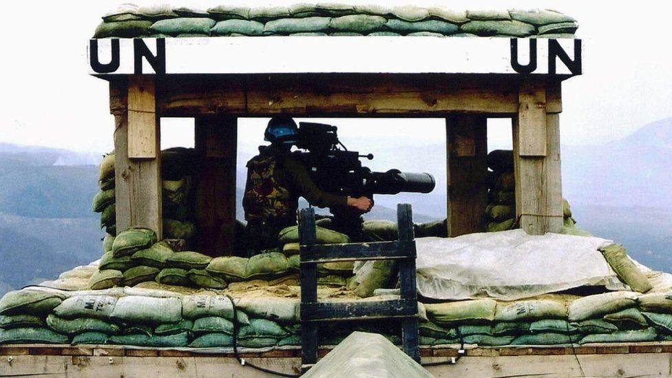 جندي تابع للأمم المتحدة
