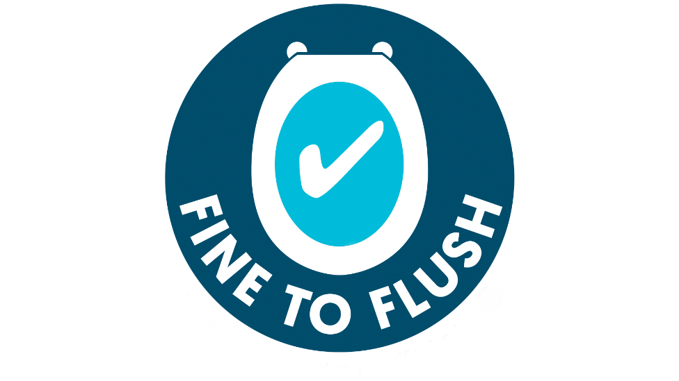 Fine to flush logo