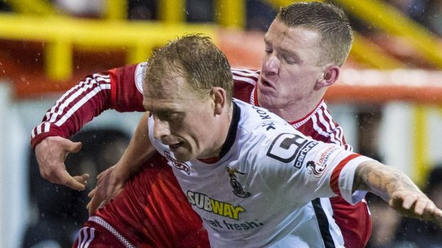 Caley Thistle's Carl Tremarco and Aberdeen's Jonny Hayes