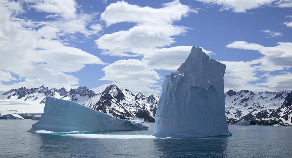 Bongkahan es di Geirgia Selatan